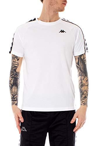 Kappa T-Shirt 222 Banda Coen Slim Bianco 303UV10 A00 L