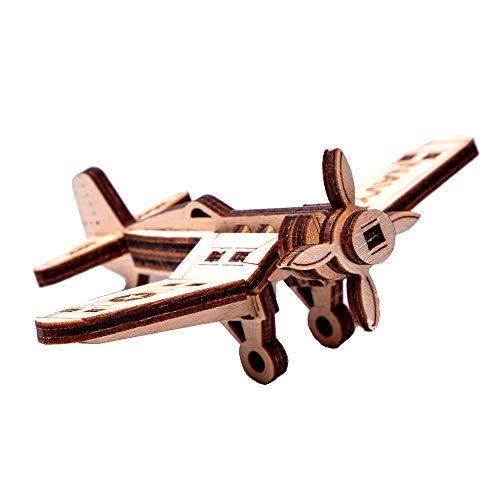 3D Holzbausatz Modellbausatz Holzmodell Flugzeug Korsar Puzzle Woodtrick Holz 20 Elemente