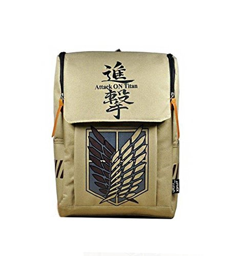 Review Large Capacity Attack on Titan Backpack Canvas Rucksack Anime Book Bag Laptop Bag