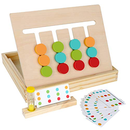 Montessori Learning Toys Slide Puzzle Color & Shape Matching Brain Teasers