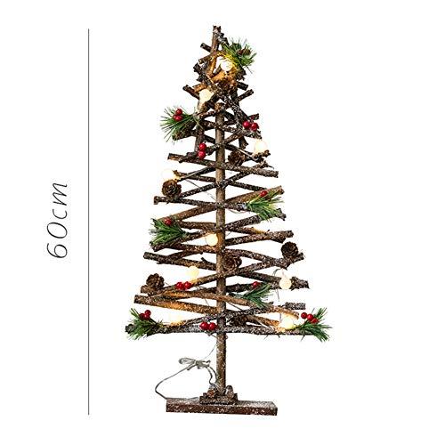 Navidad Decoraciones Madera Árbol De Navidad Arte, Natural Madera Palos Estrellas Brillante Escritorio Decoración...
