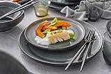 Tafelservice Helsinki 12 teiliges Geschirr-Service für 4 Personen aus Steingut, Speise-, Dessertteller und Schalen, Alltag, besonderes Dinner, Outdoor Teller-Set Vintage-Look von Sänger - 3