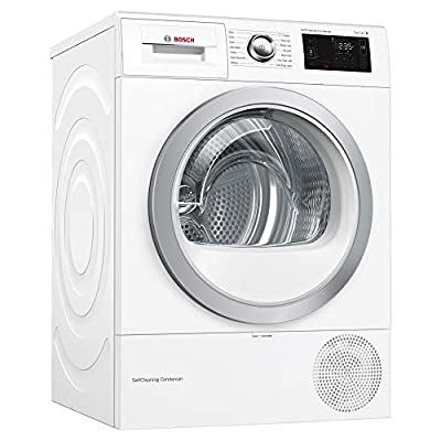 Bosch WTWH7660GB Freestanding A++ Rated Condenser Tumble Dryer in White by BSH Group