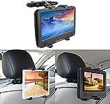 Auto Kopfstützenhalterung bedee Tablet Halterung Verstellbare Kopfstütze Halter Universal für Tragbare DVD-Player, Apple iPad Mini/Air 2 /Air/4/3/Pro Samsung Galaxy Tab Kindle Fire, 7-12 Zoll Tablets