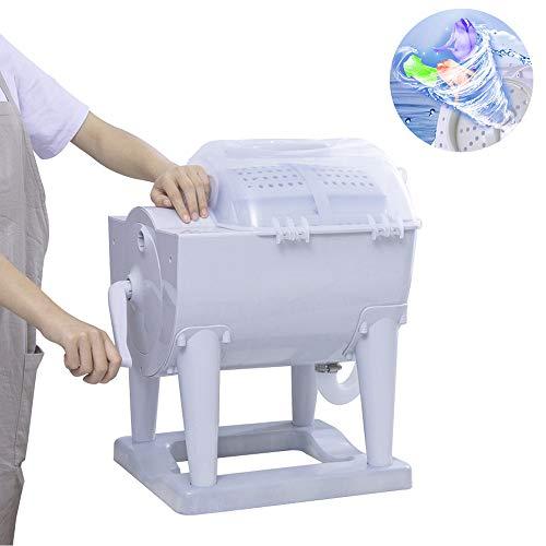 Deshidratador para lavadora de tambor manual, lavadora pequeña no eléctrica para bebés, utilizada para limpiar calcetines, ropa interior y otras prendas pequeñas en el dormitorio de la casa y la esc