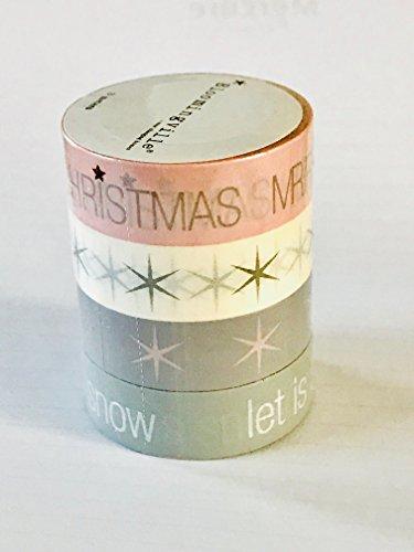 Masking Tape Merry Christmas, 4er-Set