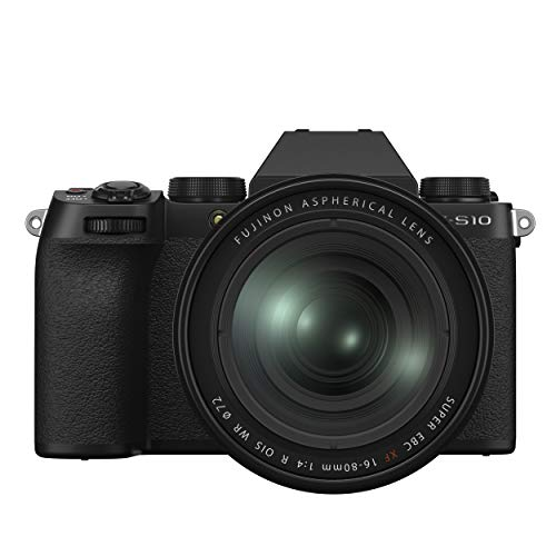 Fujifilm X-S10 Mirrorless Digital Camera XF16-80mm Lens Kit – Black
