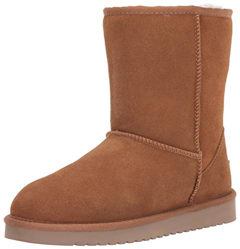 Koolaburra by UGG Women's Koola Short Mid Calf Boot, Chestnut, 9 Wide