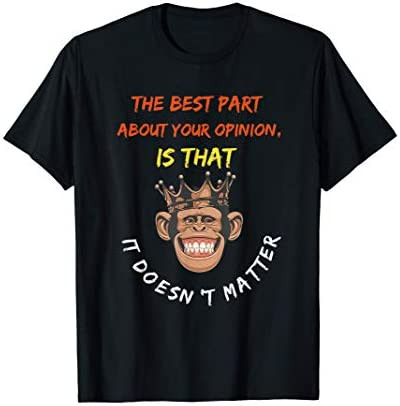 funny monkey face quote Monkey lovers funny monkey quote T Shirt product image