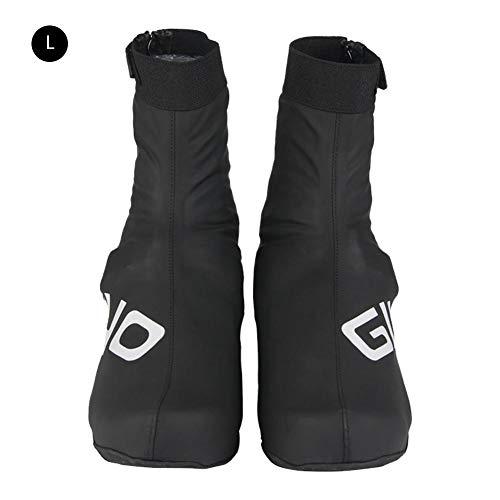 Yunt Cubierta de la zapata, reutilizable engrosamiento suela impermeable Zapatos térmicos reflectantes Cubre la bici del camino de carreras bicicleta de carreras Cubre zapatos Cyc