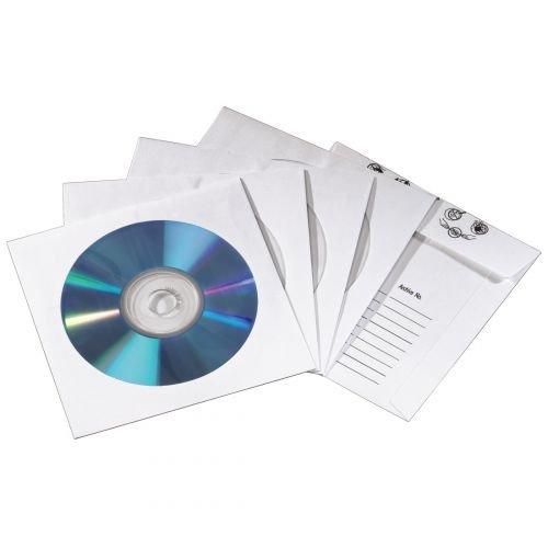 Hama CD /DVD Papierhüllen mit Index weiß 50er Pack