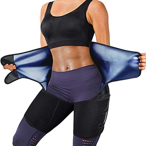 Kagodri Cinturón de cintura para sauna con sudor vigoroso, cinturón de entrenamiento abdominal para hombres y mujeres, para pérdida de peso, cinturón de ejercicio