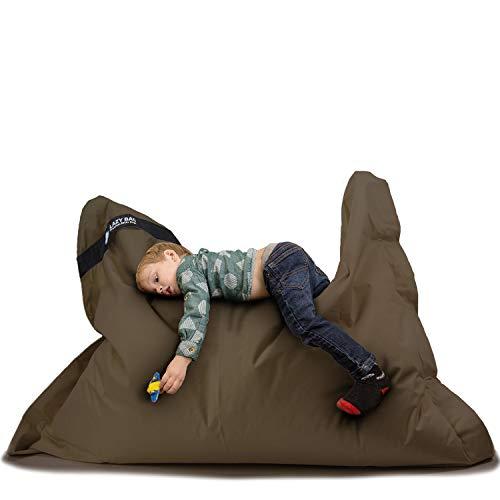 Lazy Bag Original Indoor & Outdoor Sitzsack XL 250 Liter Riesensitzsack Junior-Sitzkissen Sessel für Kinder & Erwachsene 160x120 (Braun)