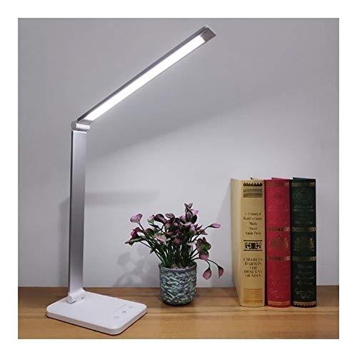 Fevilady - Lámpara de mesa con protección de los ojos, 5 colores, modo táctil, USB, recargable, lámpara de mesa LED plegable para escritorio o cama, casa