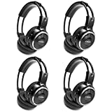 4 Pack of Wireless Infrared Two-Channel Foldable Headphones Universal Rear...