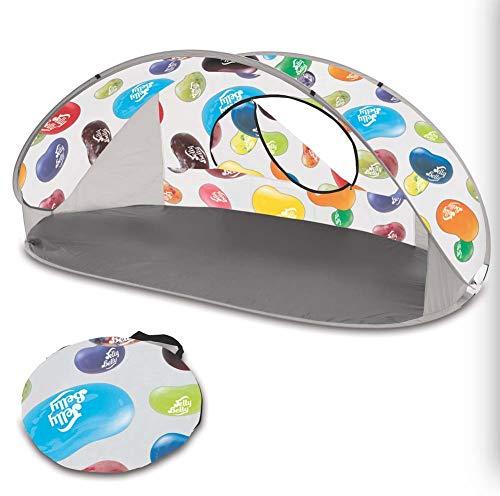 Yx-outdoor Pop-Up strandtent, lichtgewicht, UV-beschermingstent, glasvezelpalen voor 2 personen, camping, park, strand