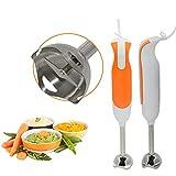 300W Stabmixer,Tragbarer Mini-Multifunktions-Elektromixer Aus Edelstahl Mit 2 Geschwindigkeiten,Babynahrungsmixer, Gemüsemühle