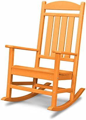 Best POLYWOOD R100TA Presidential Rocking Chair, Tangerine