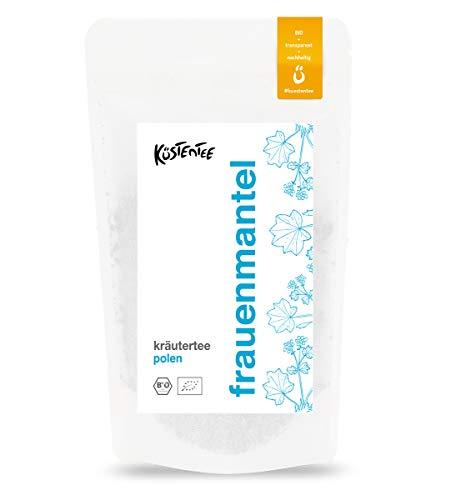 Premium BIO Frauenmanteltee von Küstentee (75g) - 100% naturbelassenes Frauenmantelkraut - hergestellt in DE - Zyklustee - geeignet vor der Schwangerschaft