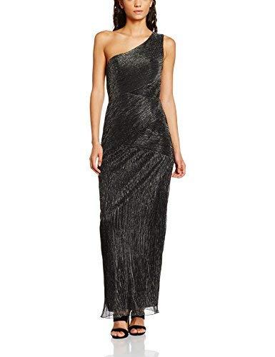 Laona by night Damen Kleid LN7103L, Schwarz(Black-Silver), 38 (Herstellergröße: M)