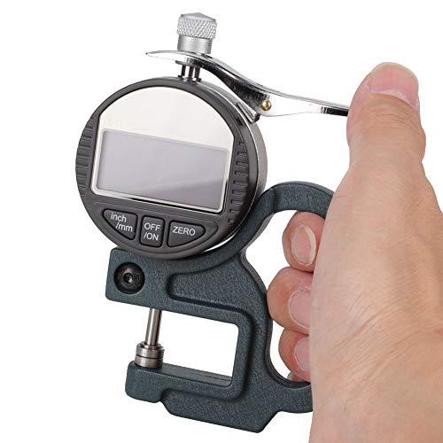 Medidor de espesor de 0-12.7 mm, medidor electrónico de medidor de espesor, medidor de micrómetro digital de espesor de 0.01 mm para cuero, herramientas para medición y diseño