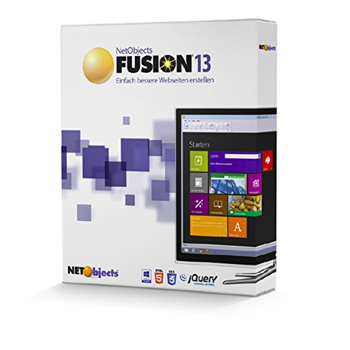 Preisvergleich Produktbild Netobjects Fusion 13 - Web Designer Website Maker für Windows XP(SP3) - 10 deutsch