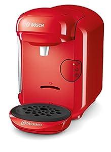 Bosch TAS1403 Tassimo Vivy 2 - Cafetera Multibebidas Automática de Cápsulas, Diseño Compacto, color Rojo
