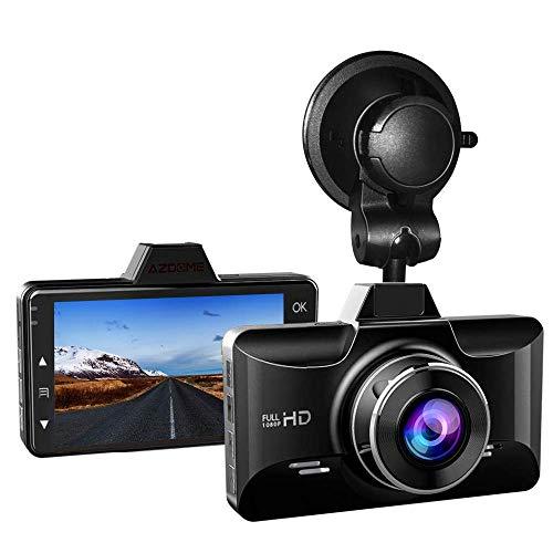 AZDOME Dashcam 1080P FHD Autokamera mit 3 Zoll LCD-Bildschirm, 170° Weitwinkelobjektiv, Loop-Aufnahme, G-Sensor, Parkmonitor und Bewegungserkennung Auto Dashcam (M01)