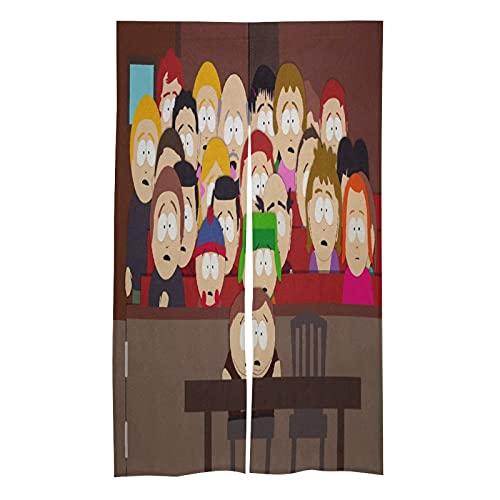 HCMEYTB Kyle Heisen-Berg Cartman Hank Stan Tenda porta - Usura tipo asta tende oscuranti termoisolanti tende oscuranti/tende per porte per consumatori e decorazione commerciale.