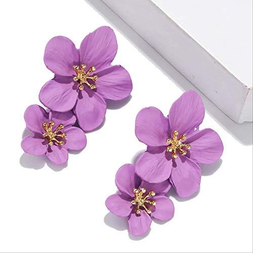 Oorspelden Grote metalen bloem oorbellen voor vrouwen Geometrische legering Spray bruiloft sieraden Meerdere ontwerpen Dangle Statement Oorbellen91-2