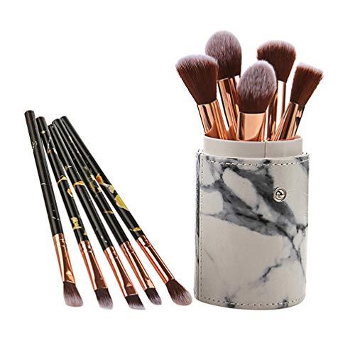 Beaupretty 10 Pcs Maquillage Pinceau Ensemble Fondation Mélange Blush Anti-Cernes Visage Pour Les Yeux Liquide Poudre Crème Cosmétiques Brosses Kit avec Tasse De Stockage Noir