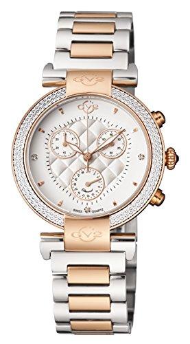 GV2by Gevril Berletta Chrono cronografo da donna con diamanti svizzero al...