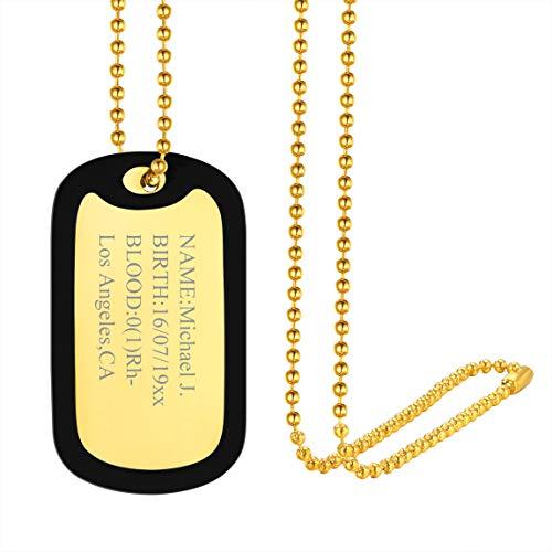 Colgante Personalizado Chapas Rectangulares con Silicona Collares con Cadena Delgada de Bolitas Joyería Moderna Simple para Decoraciones