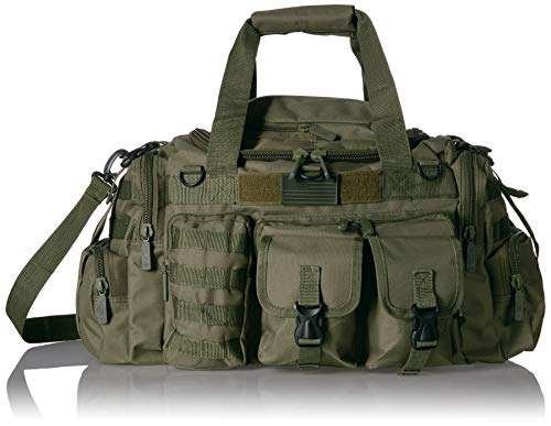 """East West U.S.A Tactical Outdoor Multi Pockets Heavy Duty 22"""" Duffel Bag, Outdoor Sports Bag Olive Color"""