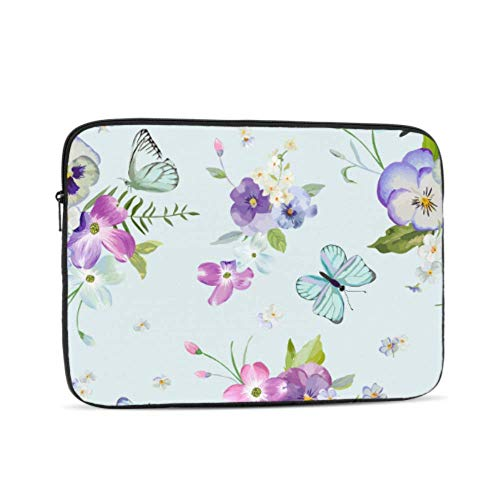 Accessories for MacBook Pro Blooming Flower Butterfly Beauty 2018 MacBook Pro Accessories Multi-Color & Size Choices 10/12/13/15/17 Inch Computer Tablet Briefcase Carrying Bag