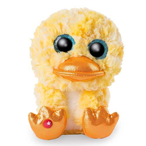 NICI 46525 Original-Glubschis Ente Honey Dee 15cm-Kuscheltier Augen – Flauschiges Plüschtier mit großen Glitzeraugen – Schmusetier für Kuscheltierliebhaber