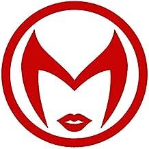 CCI Scarlet Witch Symbol Avengers Marvel Comics Decal Vinyl Sticker Cars Trucks Vans Walls Laptop Red  5.5 x 5.5 in CCI1941