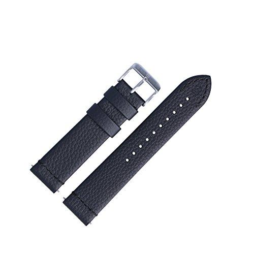 Victorinox Uhrenarmband 21mm Leder Schwarz - Uhrband Set 005310