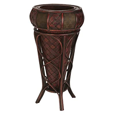 Nearly Natural 526 Decorative Stand Planter, Brown