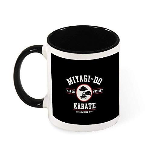 N\A Miyagi Do Karate Kid Wax On Wax Off, Cap Taza de café de cerámica Taza de té, Regalo para Mujeres, niñas, Esposa, mamá, Abuela, 11 oz