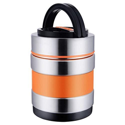 Thermisch geïsoleerd Potje Leak Proof Voedsel Container vacuümgeïsoleerde RVS Lunch Container 1.8L (Color : Yellow)