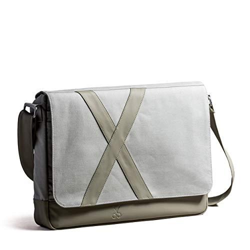 Unisex Umhängetaschen Aktentasche Laptoptasche wasserdichte Canvas Groß Arbeitstasche Messenger Bag. 41 cm x 32 cm x 6 cm (Beton)