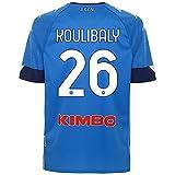 SSCN6 #SSC Napoli Maglia Camiseta réplica Home 2020/21 Koulibaly, Unisex Adulto, Azul-Azul, YXXXL