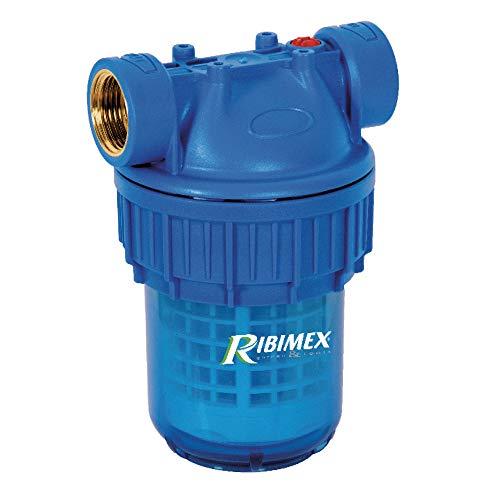 """Ribimex PRFIL5S3UV Filtro per Acqua, 5"""", con Cartuccia, Blu"""
