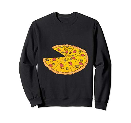Pizzabäcker Pizzeria Geschenk Pizzastück Comic Sweatshirt