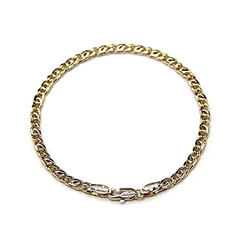 (sin marca) Pulsera de cobre chapado en oro 14K 54110146-19[Entrada paralela], M, Cobre,