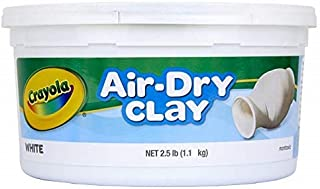 CRAYOLA 575050 1.1kg Air Dry Clay, White Colour, Sculpt, Model, Design, Easy to Use, Great for Art Projects!