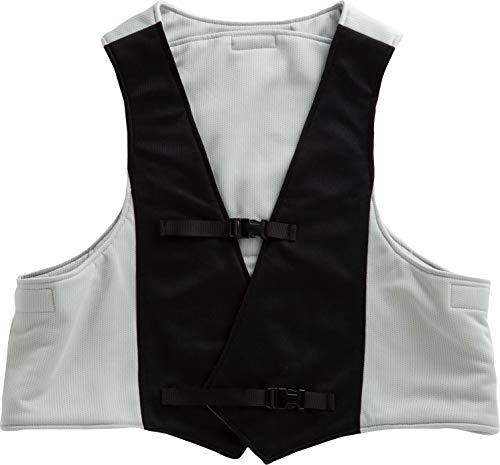 【熱中対策・暑さ対策】着用して身体を冷ますサマーベスト フリーサイズ (グレー・ブラック, l)