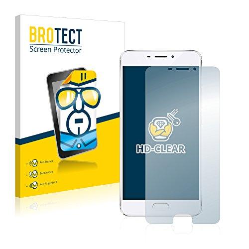 BROTECT Schutzfolie kompatibel mit Meizu M5 Note (2 Stück) klare Bildschirmschutz-Folie