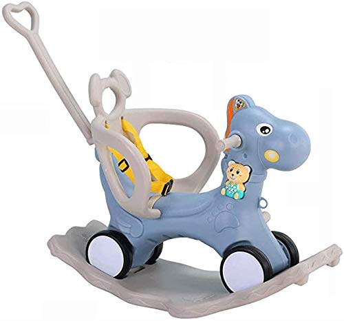 Kengsiren 2 in 1 Baby Rocking Horse, Blue Riding Toy 1-3 Year Old Child, Children's Pony Rocker Toy, Outdoor Toddler Riding Toy, Birthday Present,Blue
